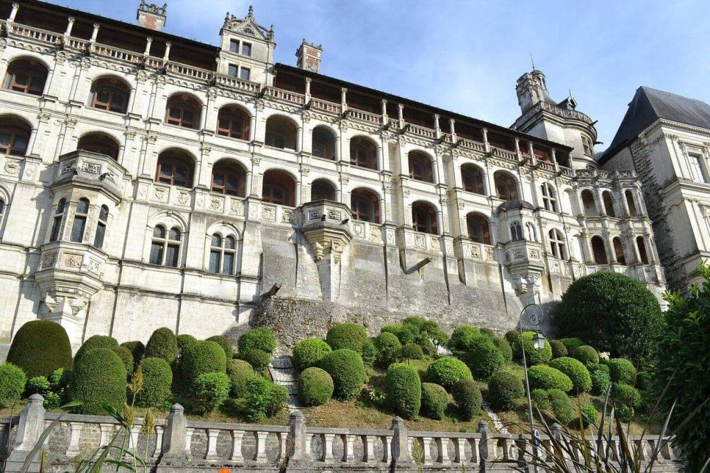 The façade of the Francois I Renaissance wing at the Château de Blois