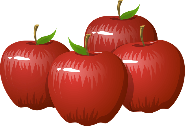 Illustration of some apples