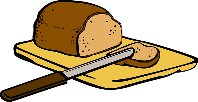 Illustration of bread on a board