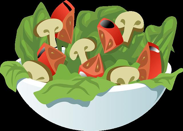 Illustration of a bowl of salad