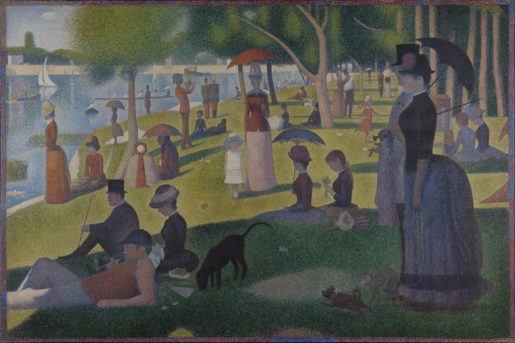 A Sunday on La Grande Jatte painting by Georges Seurat