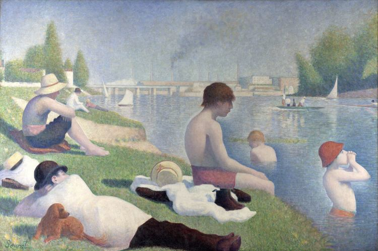 Bathers at Asnières painting by Georges Seurat