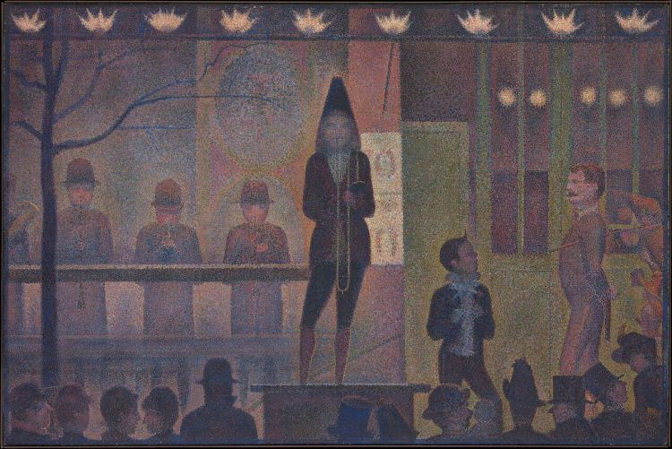 The Models painting by Georges Seurat