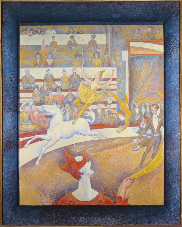 The Circus painting by Georges Seurat