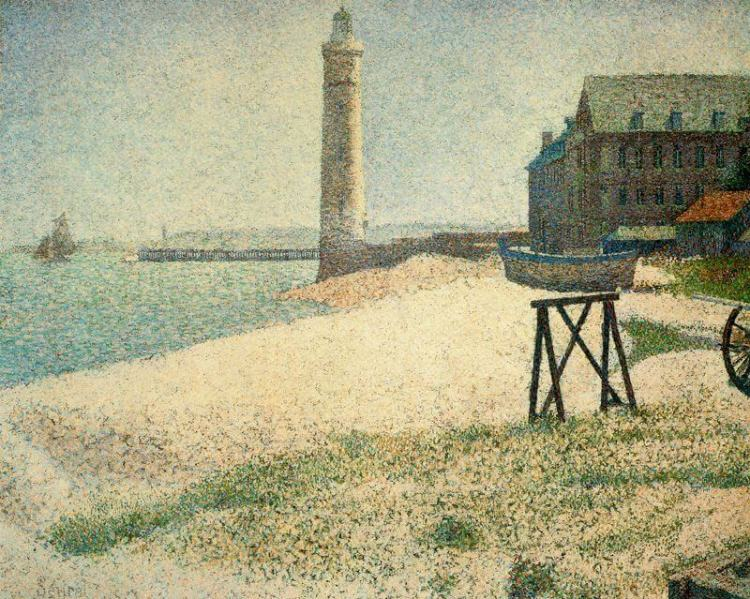 The Lighthouse at Honfleur painting by Georges Seurat