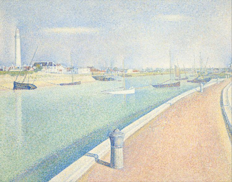 The Channel of Gravelines, Petit Fort Philippe by Georges Seurat