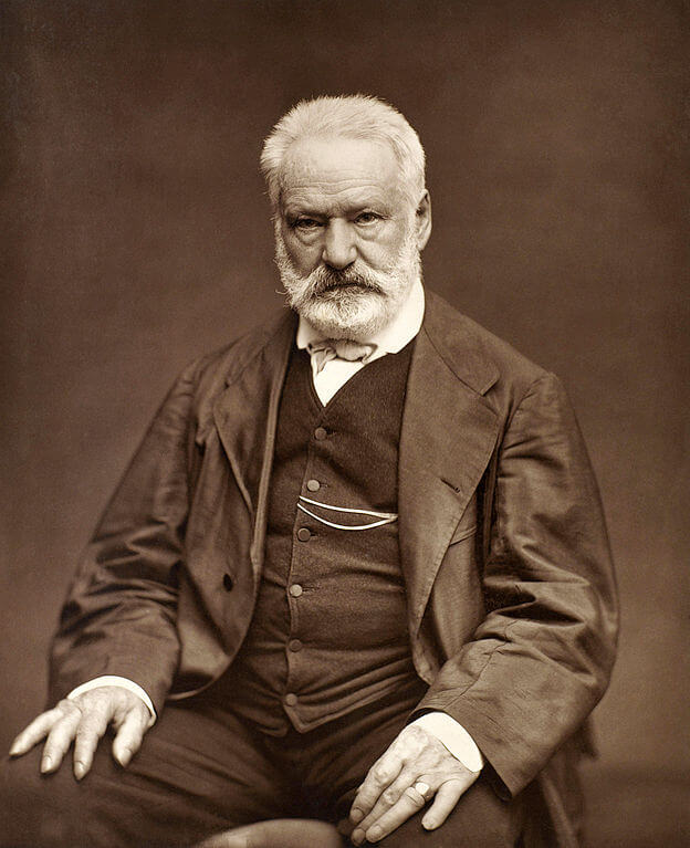 A portrait photograph of Victor Hugo