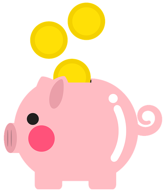 Illustration of money being dropped into a piggy bank
